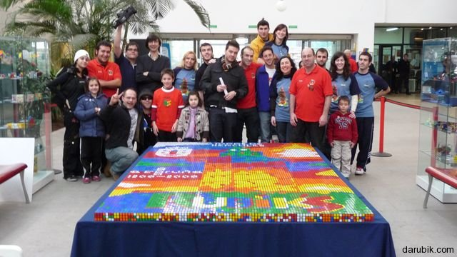 World Record: Mosaic from Rubik's